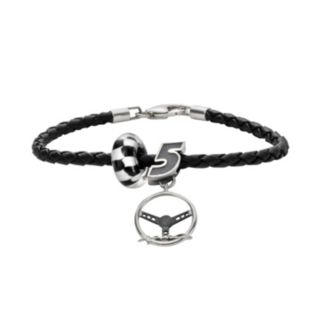 Insignia Collection NASCAR Kasey Kahne Leather Bracelet and Sterling Silver Charm and Bead Set