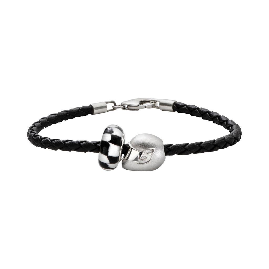 Insignia Collection NASCAR Kasey Kahne Leather Bracelet & Sterling Silver