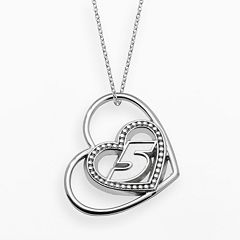 Insignia Collection NASCAR Kasey Kahne Sterling Silver '5' Heart Pendant
