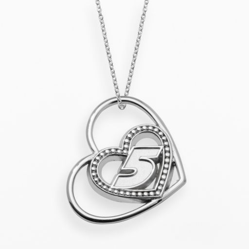 Insignia Collection NASCAR Kasey Kahne Sterling Silver 5 Heart Pendant