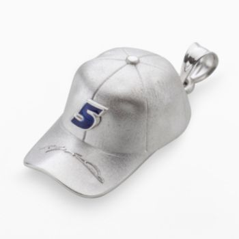 Insignia Collection NASCAR Kasey Kahne Sterling Silver 5 Baseball Cap Pendant