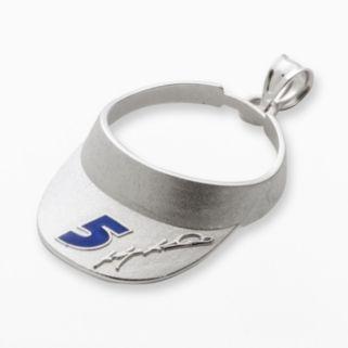Insignia Collection NASCAR Kasey Kahne Sterling Silver 5 Visor Pendant
