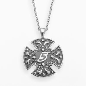Insignia Collection NASCAR Kasey Kahne Sterling Silver 5 Maltese Cross Pendant