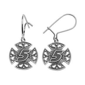 Insignia Collection NASCAR Kasey Kahne Sterling Silver 5 Maltese Cross Drop Earrings