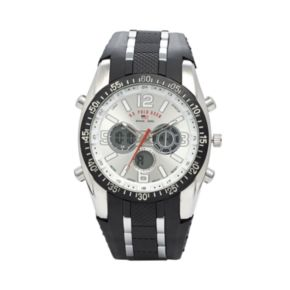 U.S. Polo Assn. Mens Analog and Digital Rubber Chronograph Watch - US9061B