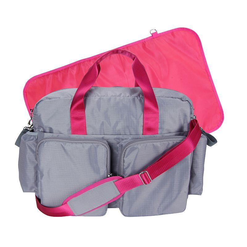 Trend Lab Deluxe Diaper Duffle Bag - Gray