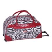 Gloria Vanderbilt Luggage, 20-in. Zebra Wheeled Duffel Bag
