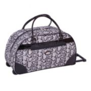 Gloria Vanderbilt Luggage, 20-in. Reptile Wheeled Duffel Bag