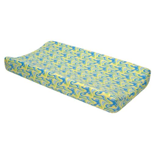 Dr. Seuss Oh The Places You'll Go Changing Pad Cover by Trend Lab - Blue