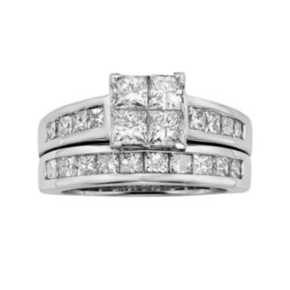 Princess-Cut Diamond Engagement Ring Set in 14k White Gold (3 ct. T.W.)