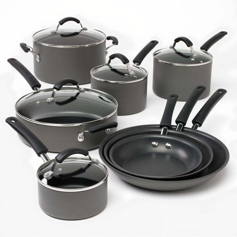 Bobby Flay 12 Pc Nonstick Aluminum Cookware Set Discount