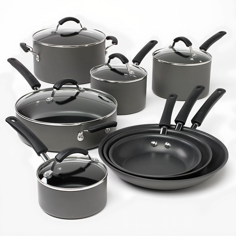 Food Network 13-pc. Hard-Anodized Nonstick Cookware Set