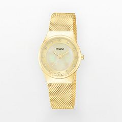Pulsar Women's Stainless Steel Mesh Watch - PH8056