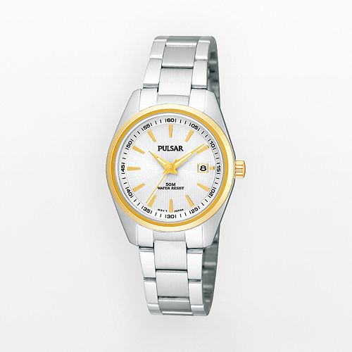 Pulsar Women's Two Tone Stainless Steel Watch - PJ2010X