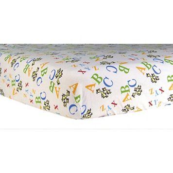 Dr. Seuss ABC Flannel Crib Sheet by Trend Lab