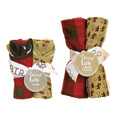 Trend Lab Northwoods 8 pc Bib & Burp Cloth Set