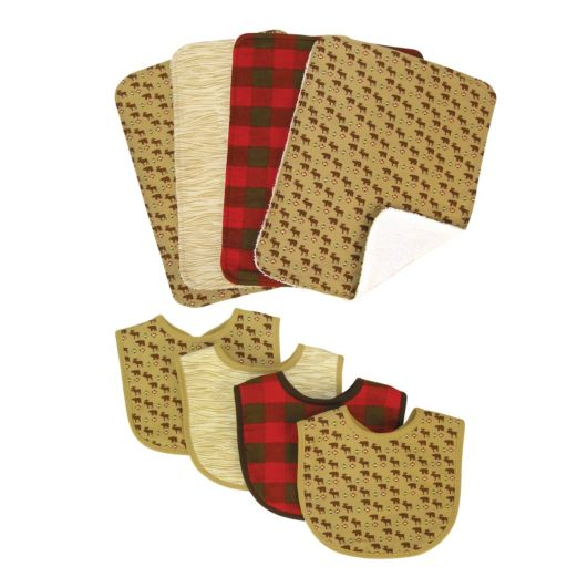 Trend Lab Northwoods 8-pc. Bib and Burp Cloth Set