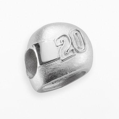 """Insignia Collection NASCAR Matt Kenseth Sterling Silver """"20"""" Helmet Bead"""
