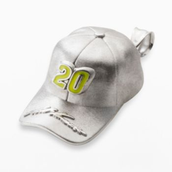 Insignia Collection NASCAR Matt Kenseth Sterling Silver 20 Baseball Cap Pendant