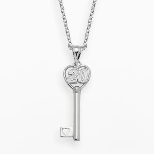 Insignia Collection NASCAR Matt Kenseth Sterling Silver 20 Heart Key Pendant