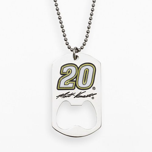 "Insignia Collection NASCAR Matt Kenseth Stainless Steel ""20"" Bottle Opener Dog Tag"