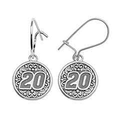 Insignia Collection NASCAR Matt Kenseth Sterling Silver '20' Drop Earrings