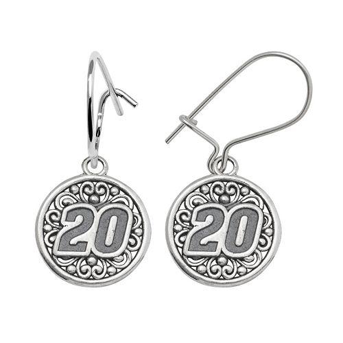 "Insignia Collection NASCAR Matt Kenseth Sterling Silver ""20"" Drop Earrings"