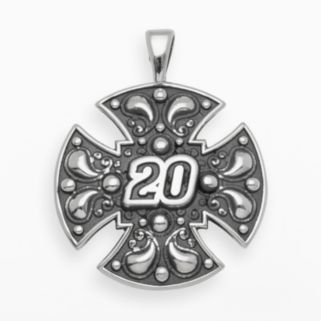 Insignia Collection NASCAR Matt Kenseth Sterling Silver 20 Maltese Cross Pendant
