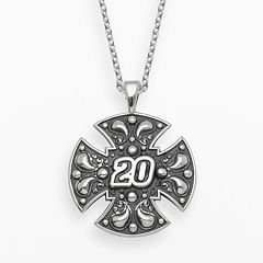 Insignia Collection NASCAR Matt Kenseth Sterling Silver '20' Maltese Cross Pendant