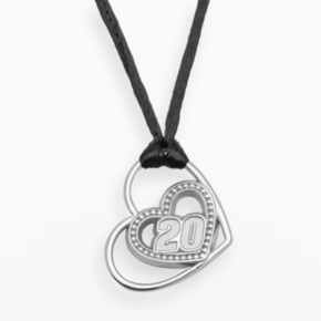 Insignia Collection NASCAR Matt Kenseth Sterling Silver 20 Heart Pendant