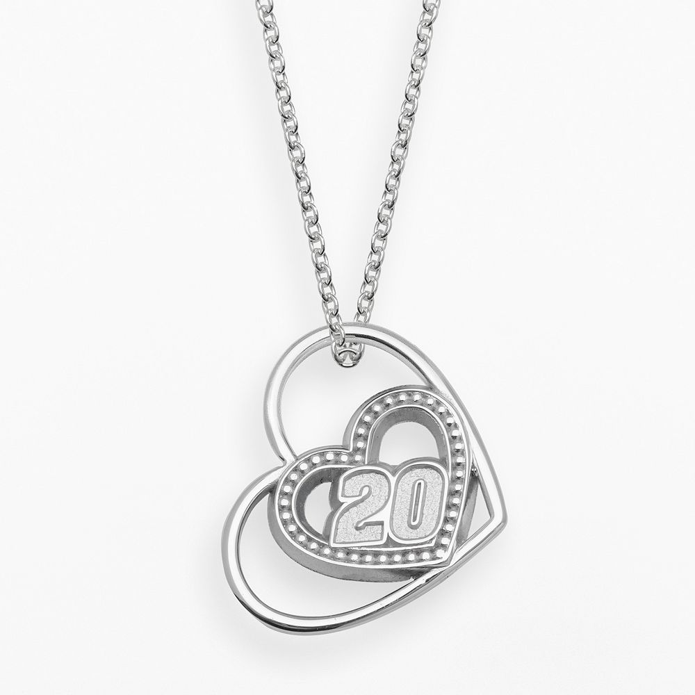 "Insignia Collection NASCAR Matt Kenseth Sterling Silver ""20"" Heart Pendant"