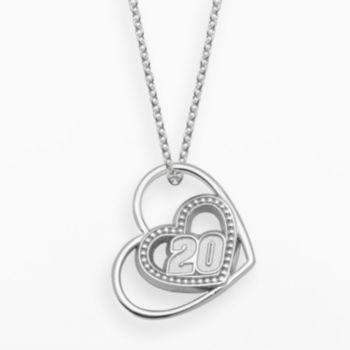 Insignia Collection NASCAR Matt Kenseth Sterling Silver 20 Heart Pendant