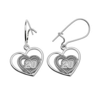 Insignia Collection NASCAR Matt Kenseth Sterling Silver 820 Heart Drop Earrings