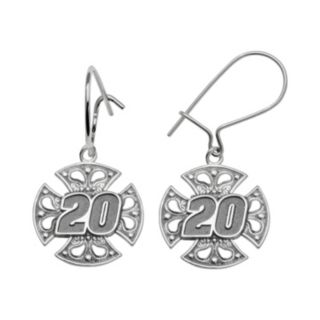 Insignia Collection NASCAR Matt Kenseth Sterling Silver 20 Maltese Cross Drop Earrings