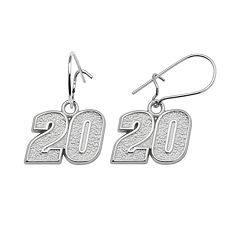 Insignia Collection NASCAR Matt Kenseth Sterling Silver '20' Drop Earrings