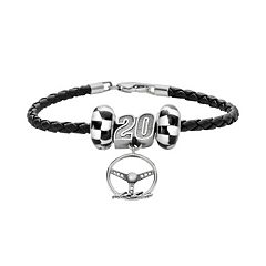 Insignia Collection NASCAR Matt Kenseth Leather Bracelet & Steering Wheel Charm & Bead Set