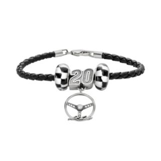 Insignia Collection NASCAR Matt Kenseth Leather Bracelet and Steering Wheel Charm and Bead Set