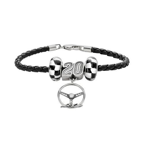 Insignia Collection NASCAR Matt Kenseth Leather Bracelet & Steering Wheel Charm & Bead Set