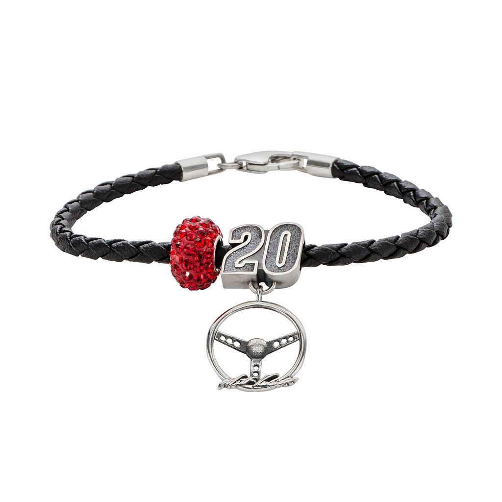 Insignia Collection NASCAR Matt Kenseth Leather Bracelet, Charm & Bead Set