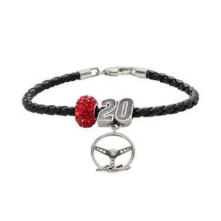 Insignia Collection NASCAR Matt Kenseth Leather Bracelet, Charm and Bead Set