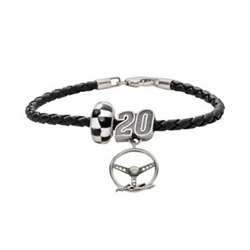 Insignia Collection NASCAR Matt Kenseth Leather Bracelet & Sterling Silver 20 Charm & Bead Set