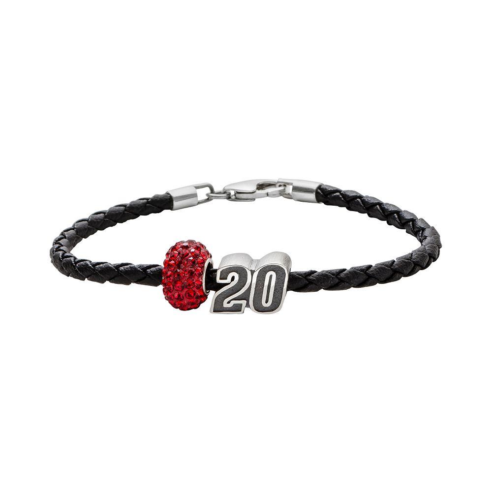 "Insignia Collection NASCAR Matt Kenseth Leather Bracelet & ""20"" Bead & Crystal Bead Set"