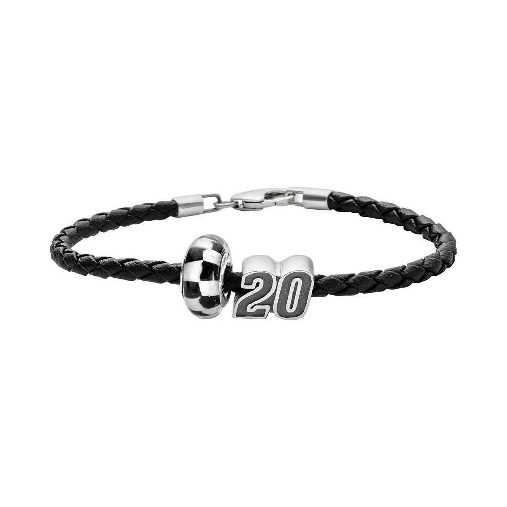 Insignia Collection NASCAR Matt Kenseth Leather Bracelet & Sterling Silver