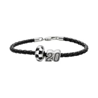 Insignia Collection NASCAR Matt Kenseth Leather Bracelet and Sterling Silver 20 Bead Set