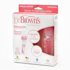 Dr. Brown's 3-pk. Natural Flow 4-oz. Bottles - Pink