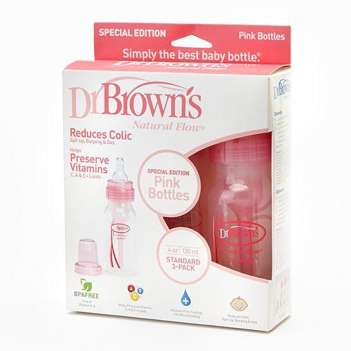 Dr. Brown's 3-pk. Natural Flow 4-oz. Bottles - Pink