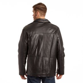 Men's Excelled Classic Leather Straight-Bottom Jacket