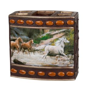Hautman Brothers Horse Canyon Toothbrush Holder