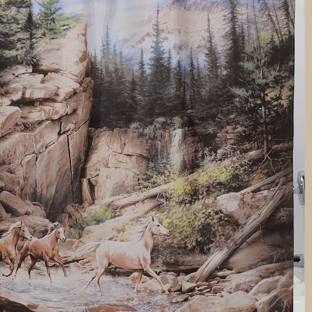 Hautman Brothers Horse Canyon Fabric Shower Curtain
