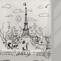 Creative Bath Paris Days PEVA Shower Curtain